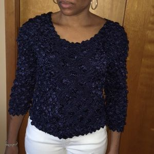 Tops - Dark Blue Blouse